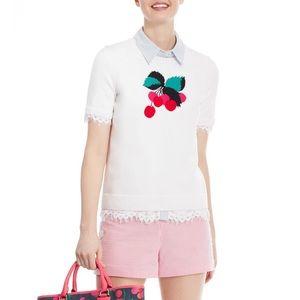 Draper James   Cream Cherry Blossom Sweater